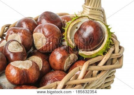 Chestnuts In Wicker Basket
