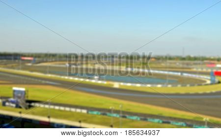 blurry picture car racing track as sport background