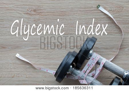 Concept Glycemic Index and against healthy for background