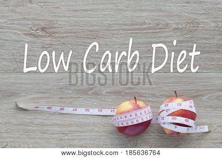 Concept Low Carb Diet and against healthy.