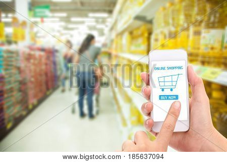 woman making shopping online. business online concept