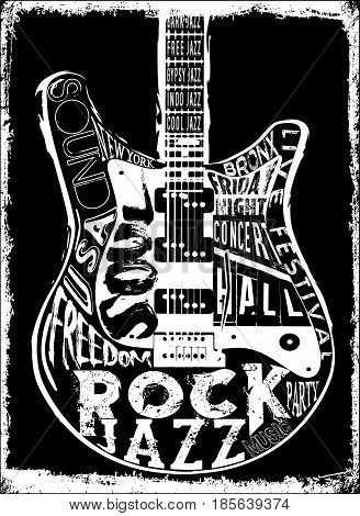 Hard Rock Music Poster fashion style new art
