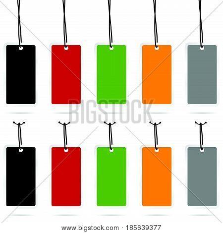 Tag Set Empty Sale Design In Color Illustration