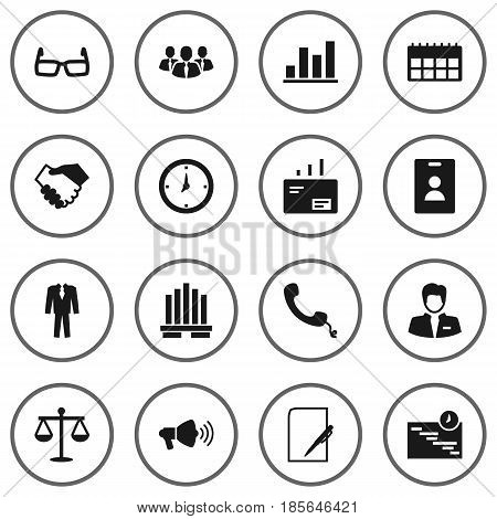 Set 16 Business Icons Vector Photo Free Trial