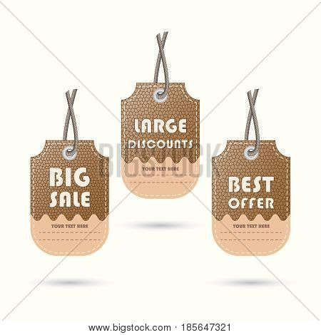Price lists, tags for discounts, sales, offers Vector illustration