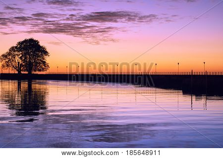 Sunrise at River Plate, Buenos Aires Argentina
