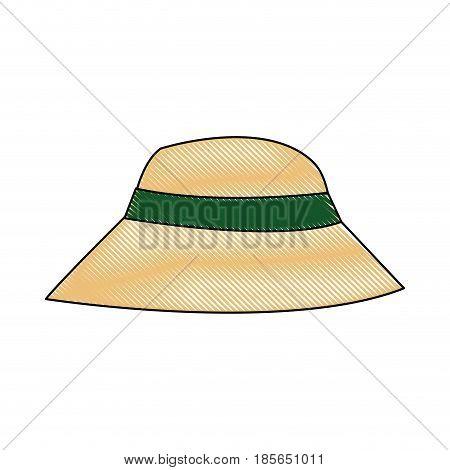 beautiful hat summer sun floppy image vector illustration