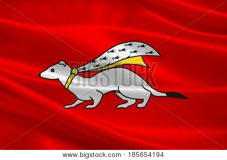 Flag of Vannes is a commune in the Morbihan department in Brittany in north-western France. 3D illustration