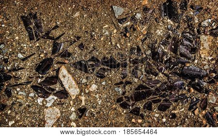 Broken glass, shattered, broken glass pieces, grunge background