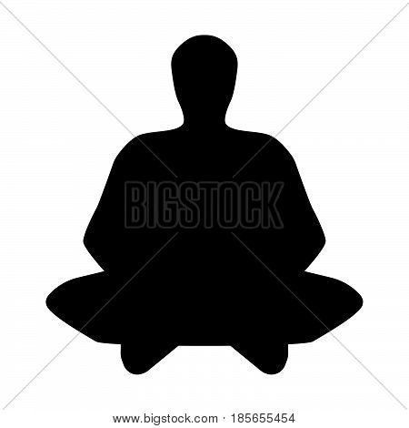 The Meditator Man Black Icon.