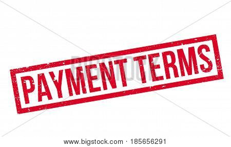 Payment Terms rubber stamp. Grunge design with dust scratches. Effects can be easily removed for a clean, crisp look. Color is easily changed.