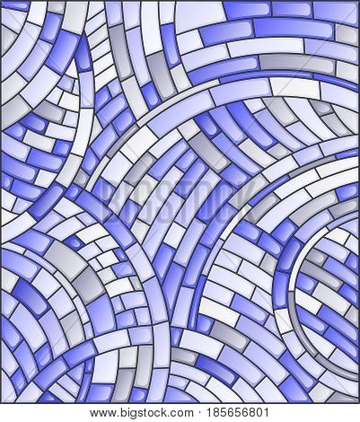 Abstract mosaic background of tiles on a dark backgroundblue tone