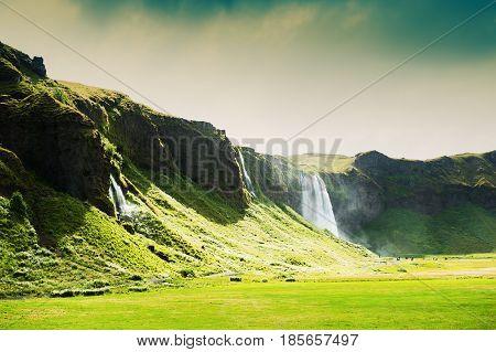 Seljalandsfoss Waterfall In Iceland.