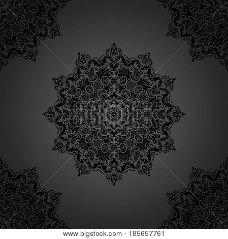 Seamless classic dark pattern. Traditional orient ornament