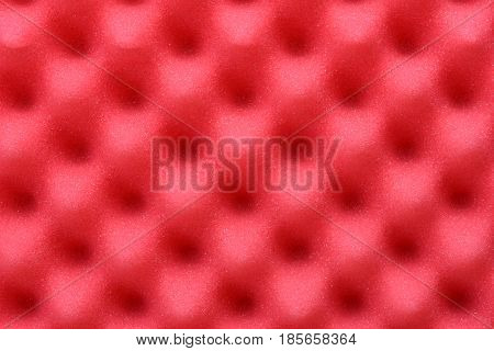 Red acoustic foam as abstract and red background