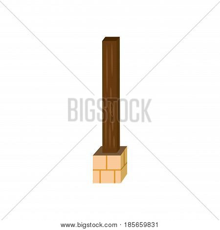 Post estructure construction icon vector illustration graphic design