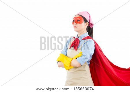 Successful Super Cleaning Hero Woman