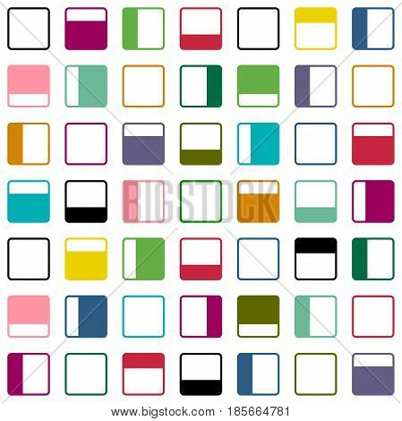 Abstract seamless pattern with bright colorful frames.