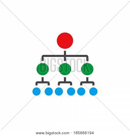 Organizational Chart Icon Vector, Hierarchy Solid Logo, Pictogram Isolated On White, Pixel Perfect C