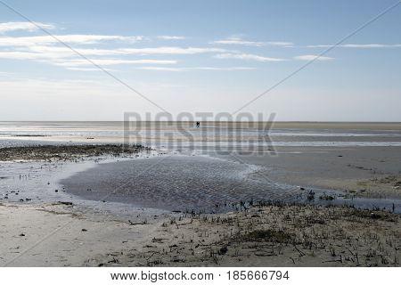 Wadden Sea beach outside Sonderho on Fano island in Denmark