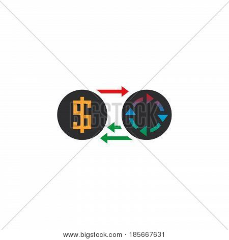 Profit Icon Vector, Money Turnover Solid Logo, Color Pictogram Isolated On White, Pixel Perfect Illu
