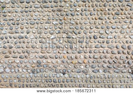 Decorative Flint Built Wall