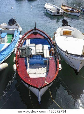 old fishing boat in Portovenere , italy
