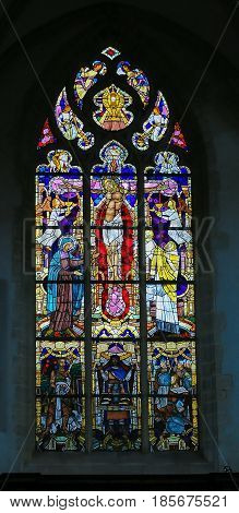 Stained Glass - The Crucifixion Of Jesus