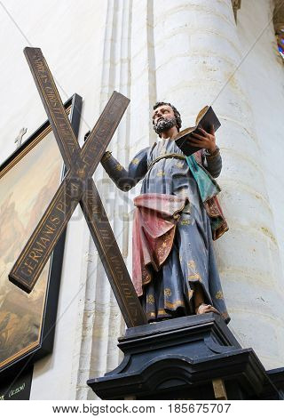 Statue Of Saint Andrew Carrying His Cross