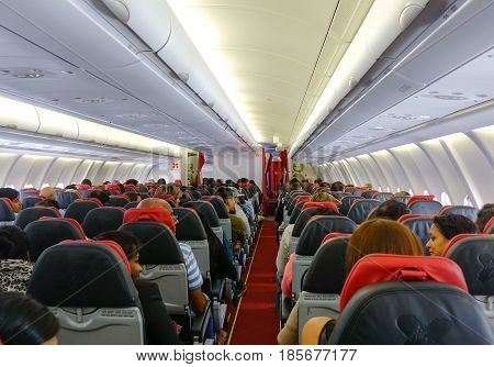 Passengers In The Airplane