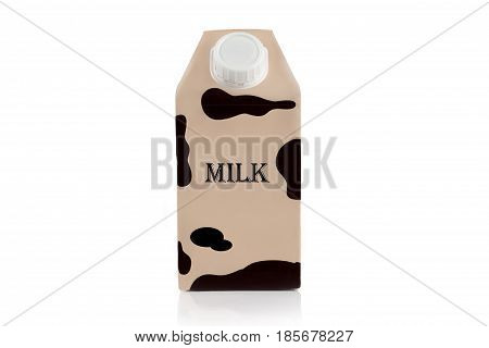 A long-term storage bag for milk and dairy products on a white background