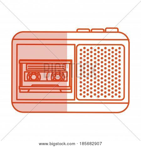 Journalist recorder isolated icon vector illustration design