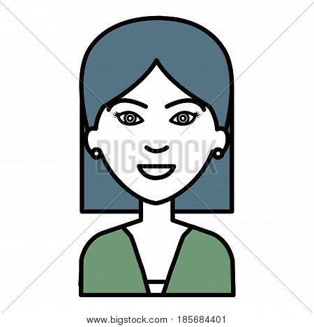 businesswoman avatar character icon vector illustration design
