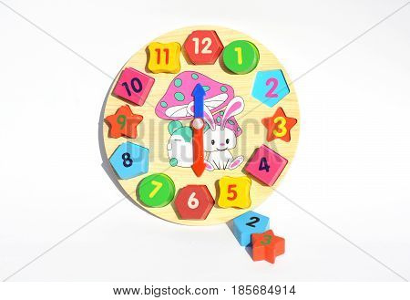 Clock toy of montessori. Montessori Learning & Education Method for Children Education. Montessori Toys and materials.