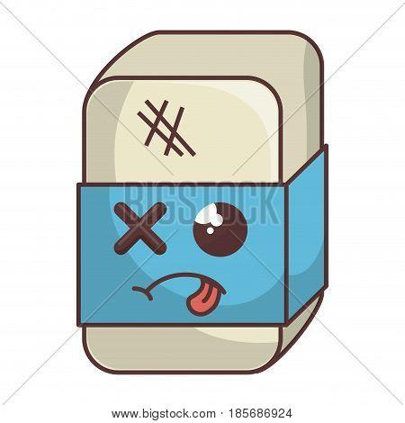 eraser school comic character vector illustration design
