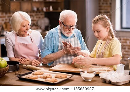 Family Kneading Dough