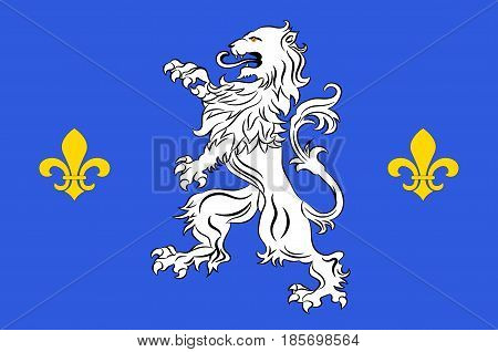 Flag of Nogent-le-Rotrou is a commune in the Eure-et-Loir department in northern France. Vector illustration