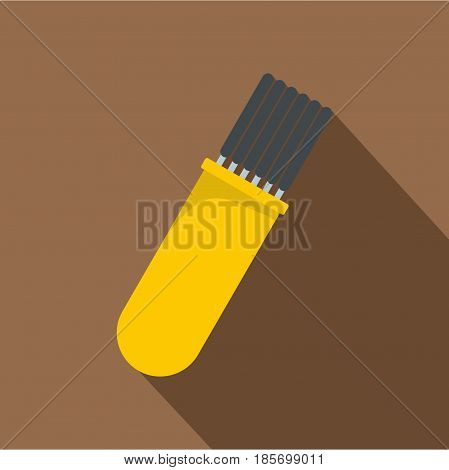 Welding rods icon. Flat illustration of welding Rods vector icon for web on coffee background
