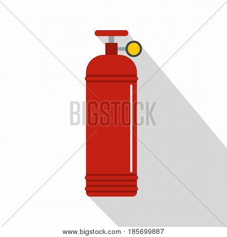Red compressed gas container icon. Flat illustration of red compressed gas container vector icon for web on white background