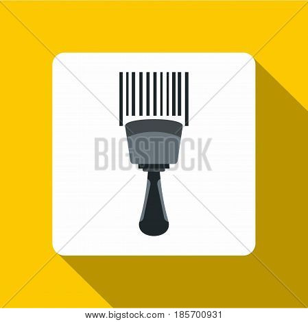 Bar code scanner icon. Flat illustration of bar code scanner vector icon for web