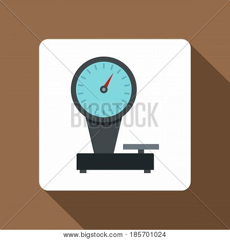 Weight scale icon. Flat illustration of weight scale vector icon for web