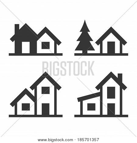 Home Icons Set for Real Estate Logo. Vector illustration