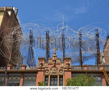Sculpture Of Antoni Tapies In Barcelona
