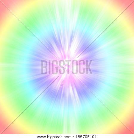 Light radius rainbow circle abstract art background