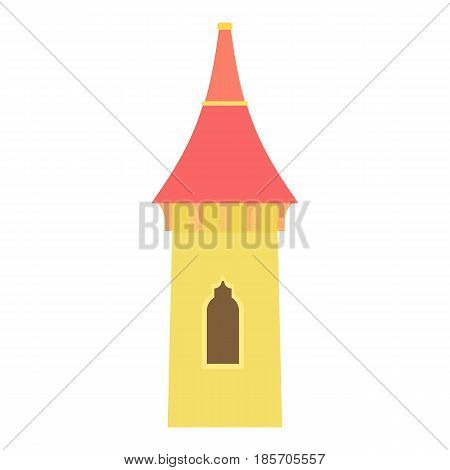 Castle tower icon. Cartoon illustration of castle tower vector icon for web