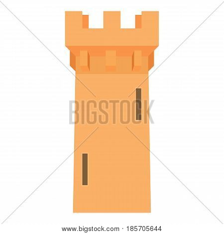 Medieval battle tower icon. Cartoon illustration of medieval battle tower vector icon for web