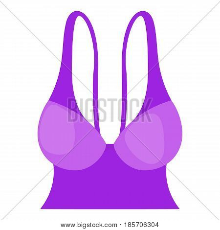 Purple bustiers icon. Cartoon illustration of purple bustiers vector icon for web