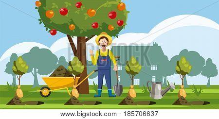 Gardener plant icons set. Cartoon illustration of 16 gardener plant vector icons for web