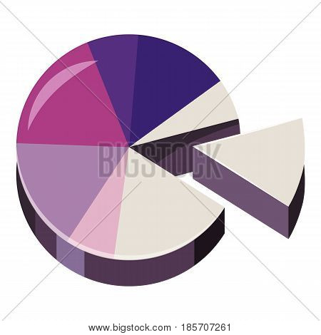 Colorful pie graphic chart icon. Cartoon illustration of colorful pie graphic chart vector icon for web