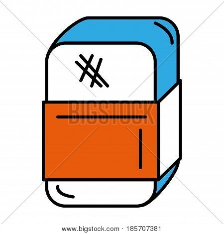 eraser school isolated icon vector illustration design